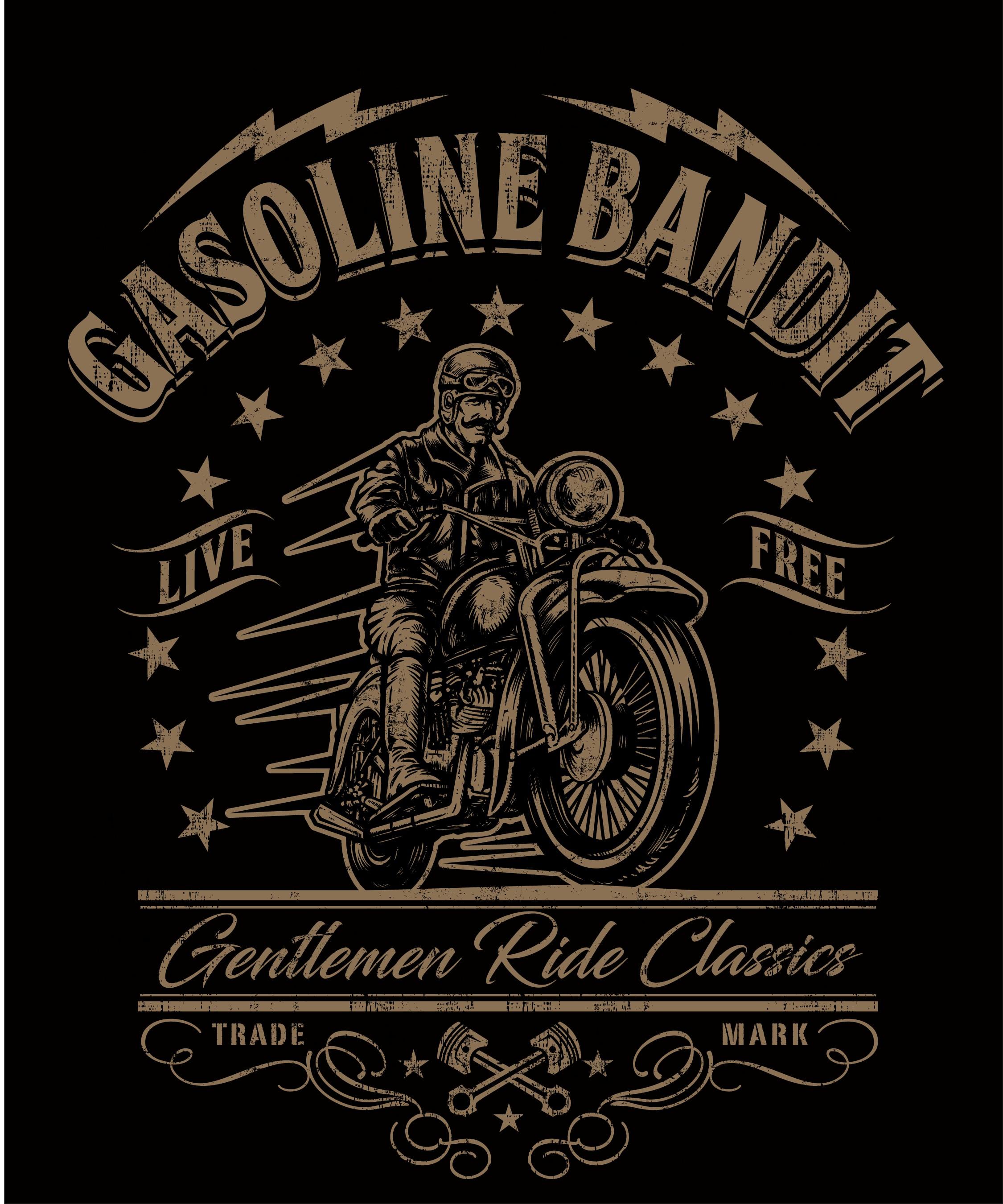 +++ Old fashioned Gentlemen-Biker T-Shirt - Create a cool vintage retro design+++