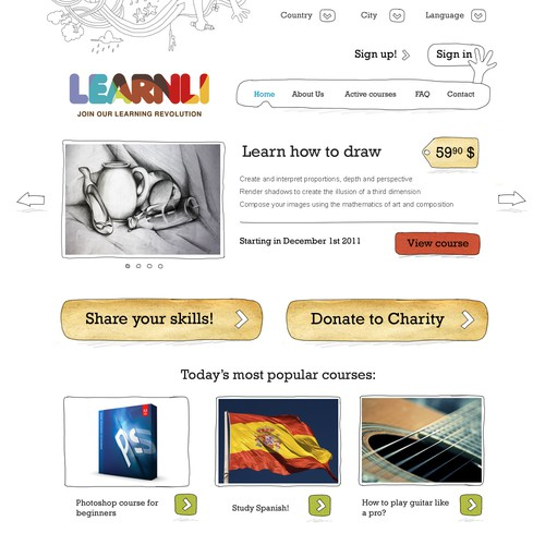 Learnli website design concept