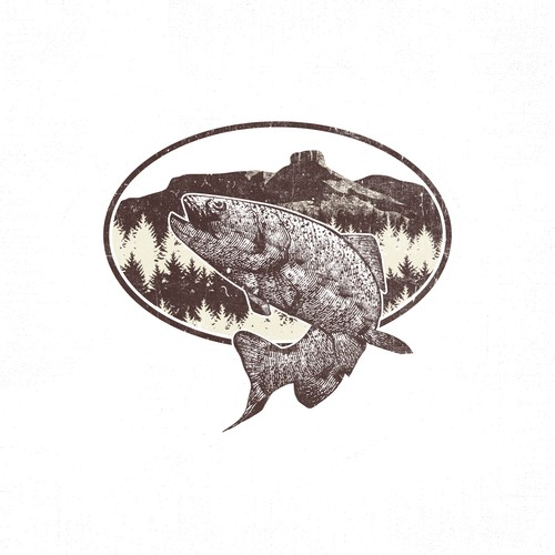 T-shirt design with Golden Trout