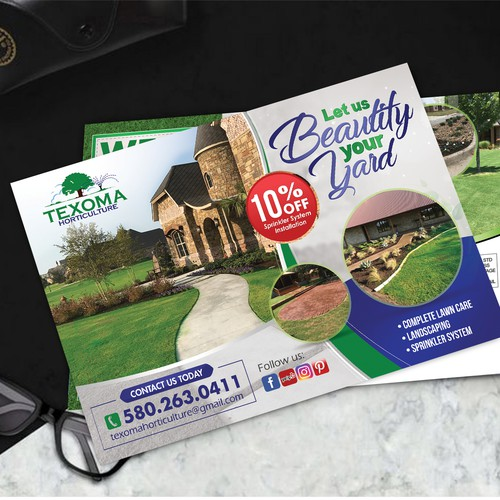 Creative Post Card Design for Texoma Horticulture