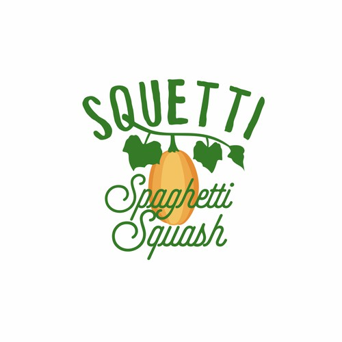 design a fun logo for SQUETTI (Spaghetti Squash)