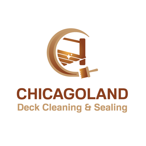 A logo for Chicagoland Deck Cleaning & Sealing