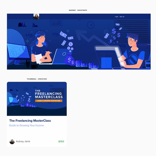 Banner & Thumbna for Teachable Course