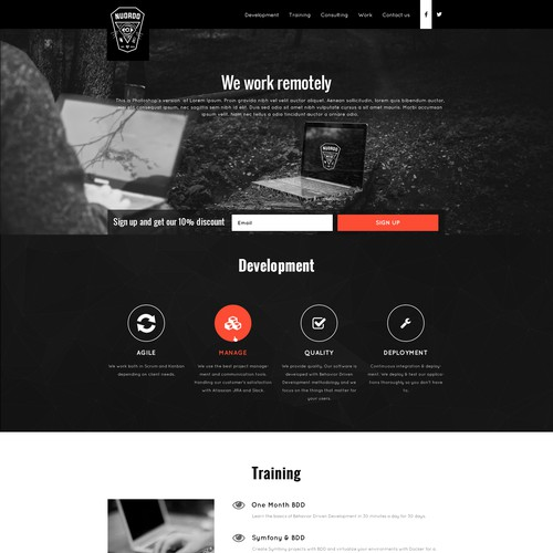 Mystic Landing Page for a Software Company