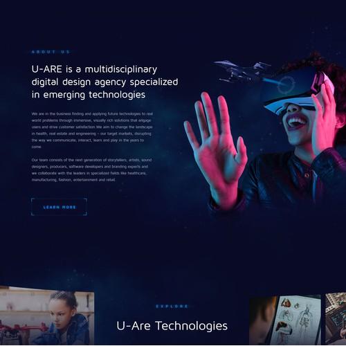 Website Redesign for AR / VR Start up