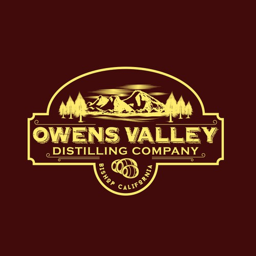 Vintage Logo for a distilling company.