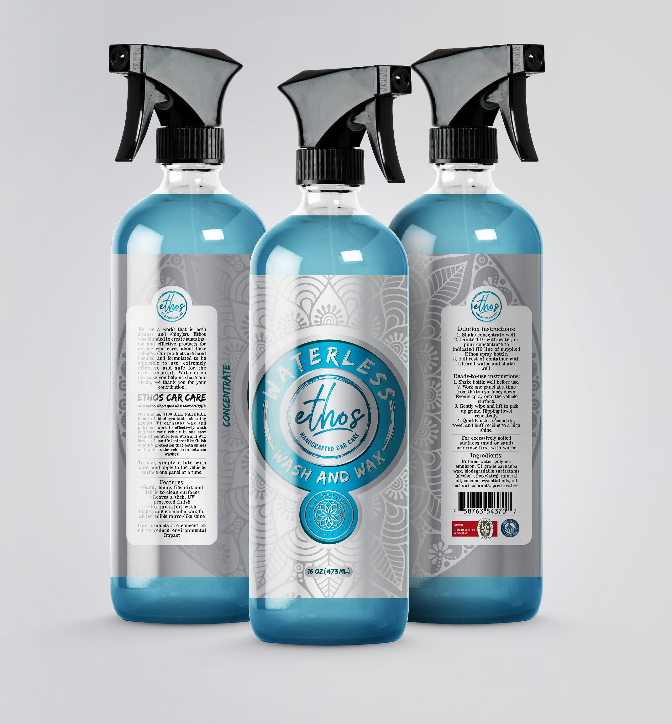 Elements Car Care Product Branding Label (Waterless Car Wash)