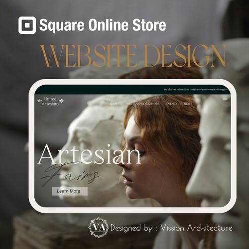 SQUARE ONLINE STORE | Design for United Artesians