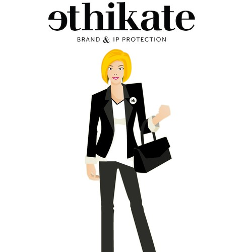 Create a sassy, edgy business chick character for a modern, innovate law firm