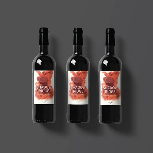 artistic wine label