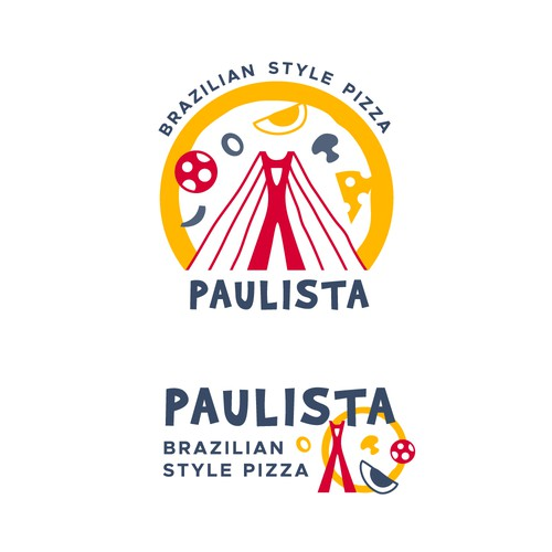 Logo for Brazilian style pizzeria