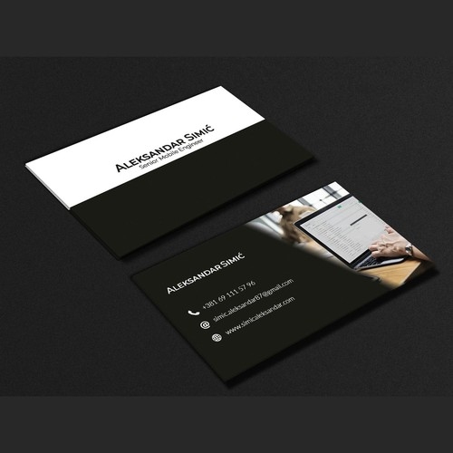 clean luxury professional business card