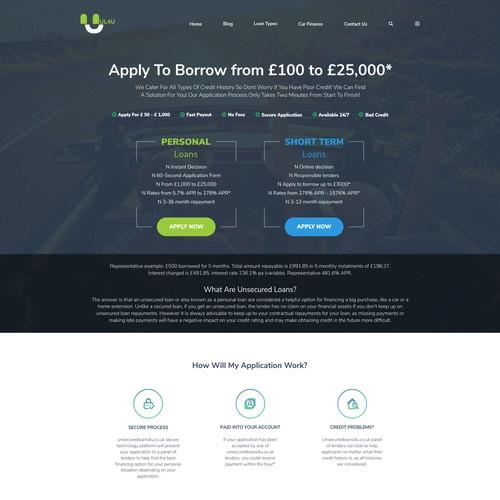 Website design for a Loan Website Design
