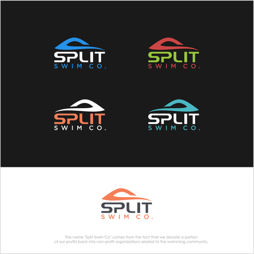 Up and coming competitive swim company needs an awesome logo - Split Swim Co