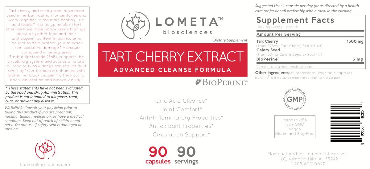 Label for Tart Cherry Extract