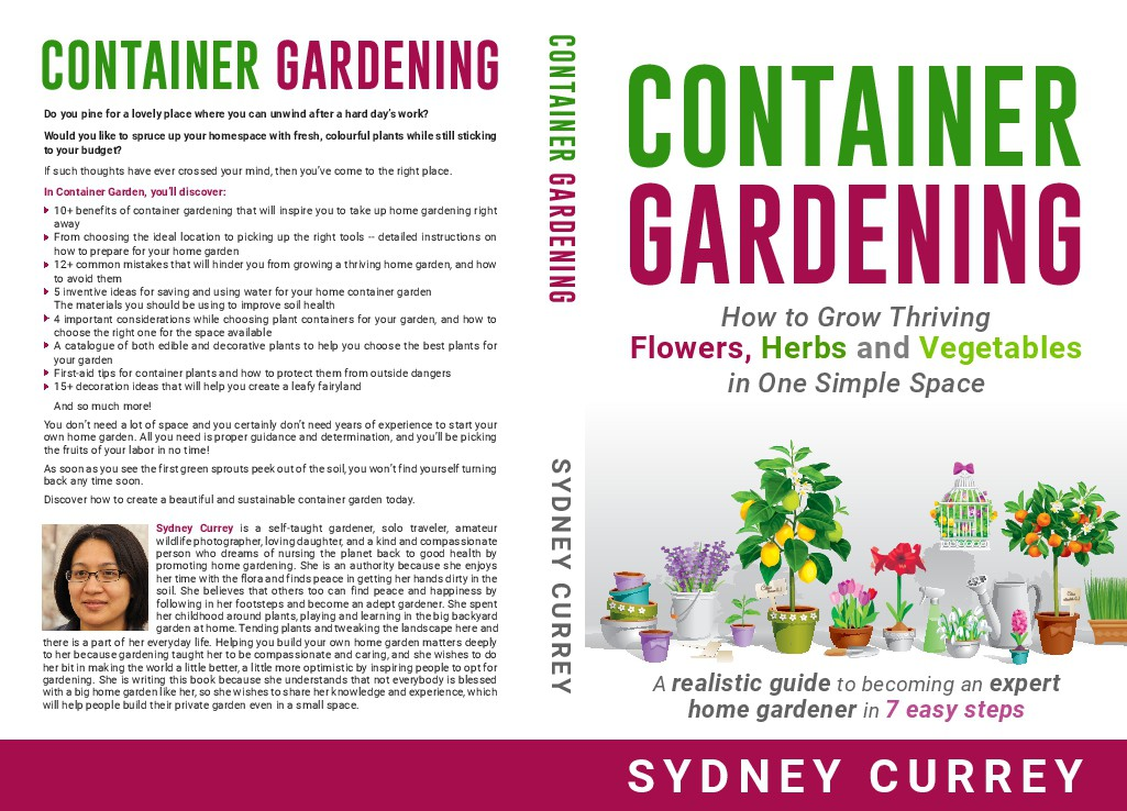 Garden Delight: Create a Container Garden Design must be colorful and beautiful.