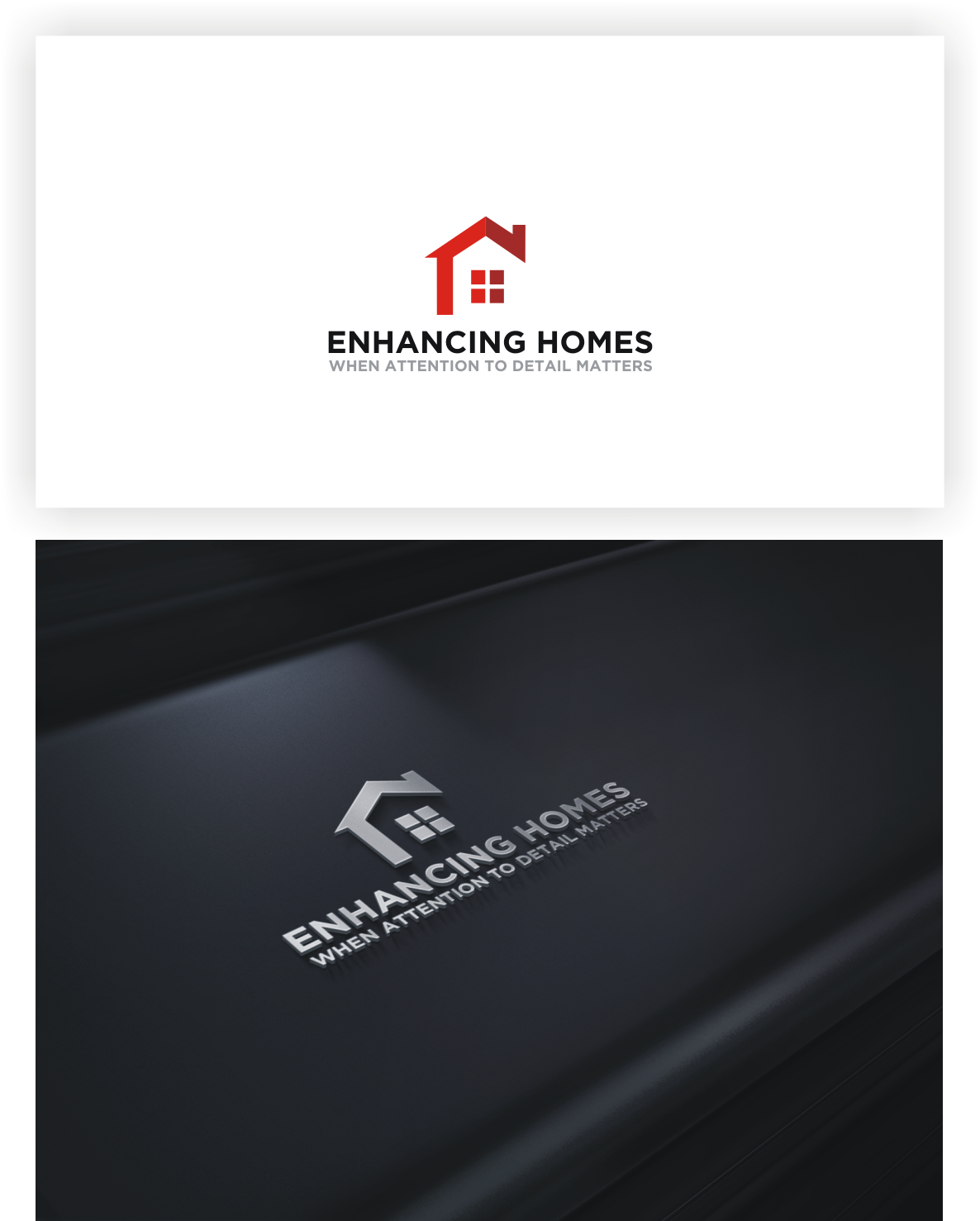 logo and business card for enhancing homes