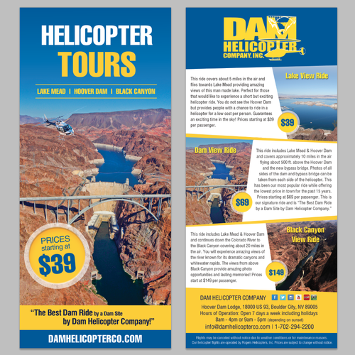 Show us what you've got! We're looking for creative and modern flyer designs for our Helicopter Tour
