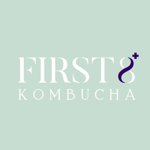 Logo concept for kombucha drink