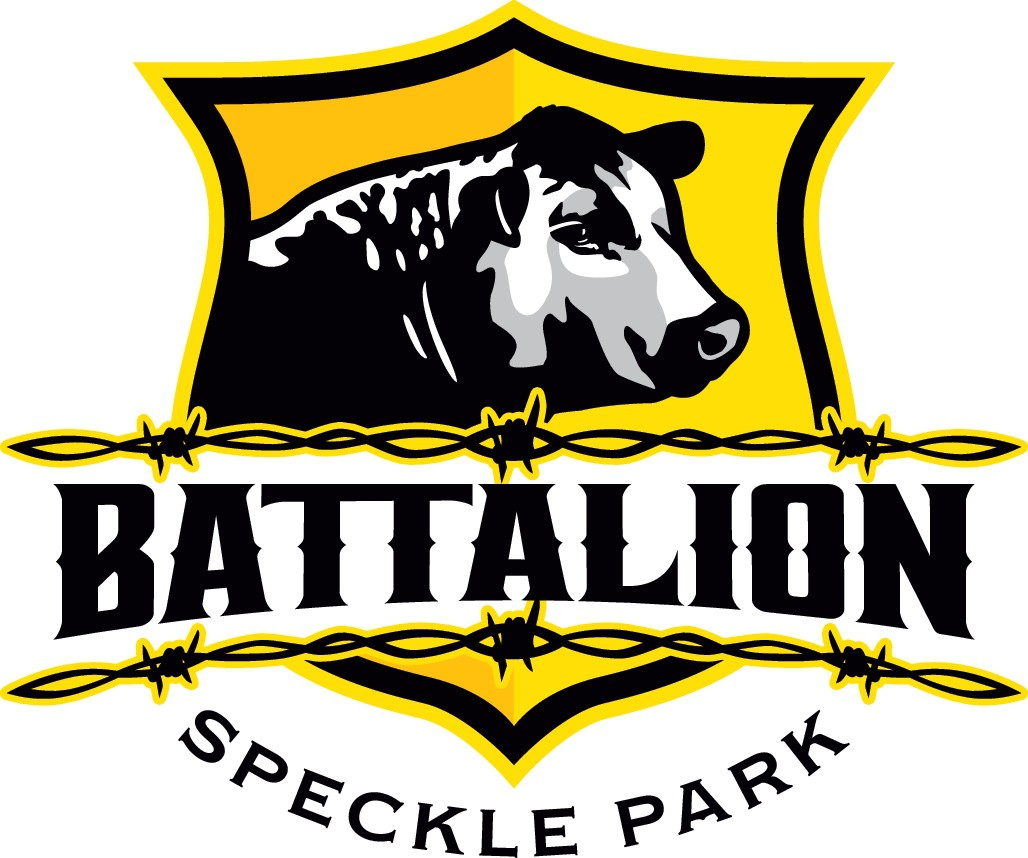 Create an eye catching rural logo design for Battalion Speckle Park cattle stud