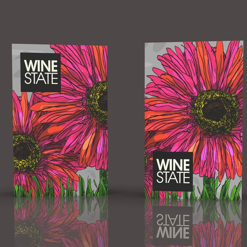 WINE BOX WITH FLOWER