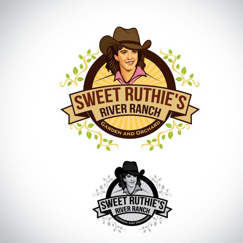 Sweet Ruthie's River Ranch logo design