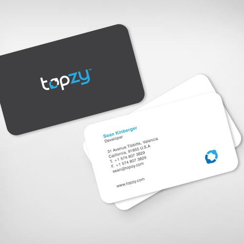 Stunning business cards for top Facebook application developer