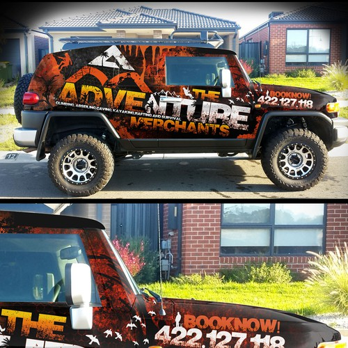 Company Tour car wrap