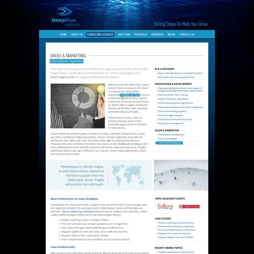 website design for DeepBlue Advisory