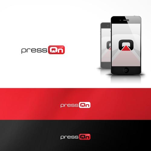 PressOn Minimal Logo Design
