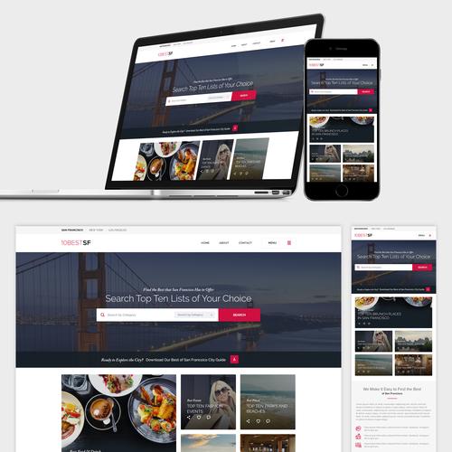 Top Ten City Guide Website Design