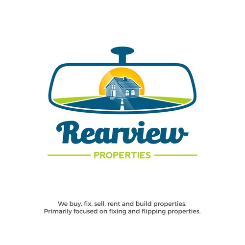 Design a clean and powerful logo for Rearview Properties
