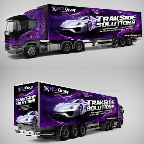 Trackside trailer wrap