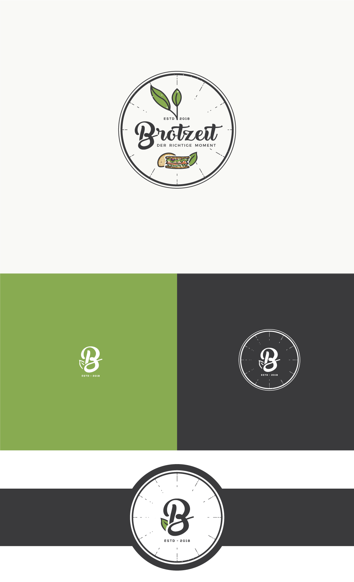 Create a logo and website for a healthy and tasty food concept offering sandwiches made from German bread