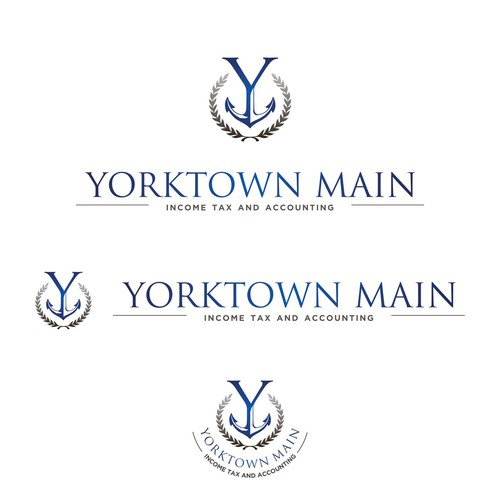 Create a sophisticated, coastal-inspired logo for Yorktown Main