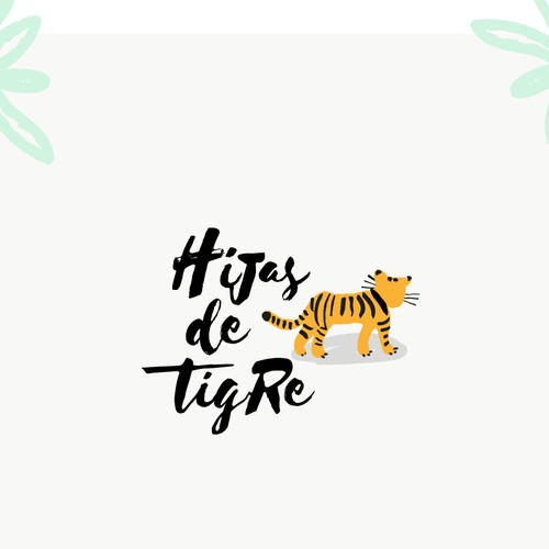 Hipster logo for Hijas de Tigre, a mexican gift shop