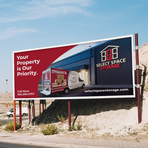 Billboard design for storage company