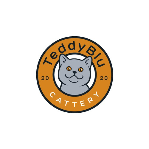 Kuwait British Shorthair Cattery Mascot Badge Design