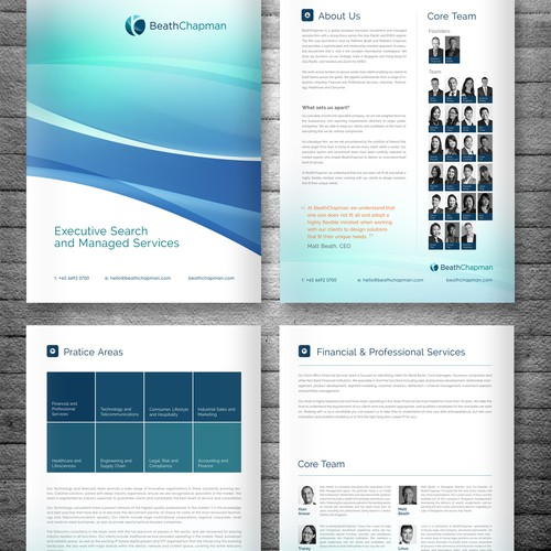 Electronic brochure design for professional services firm