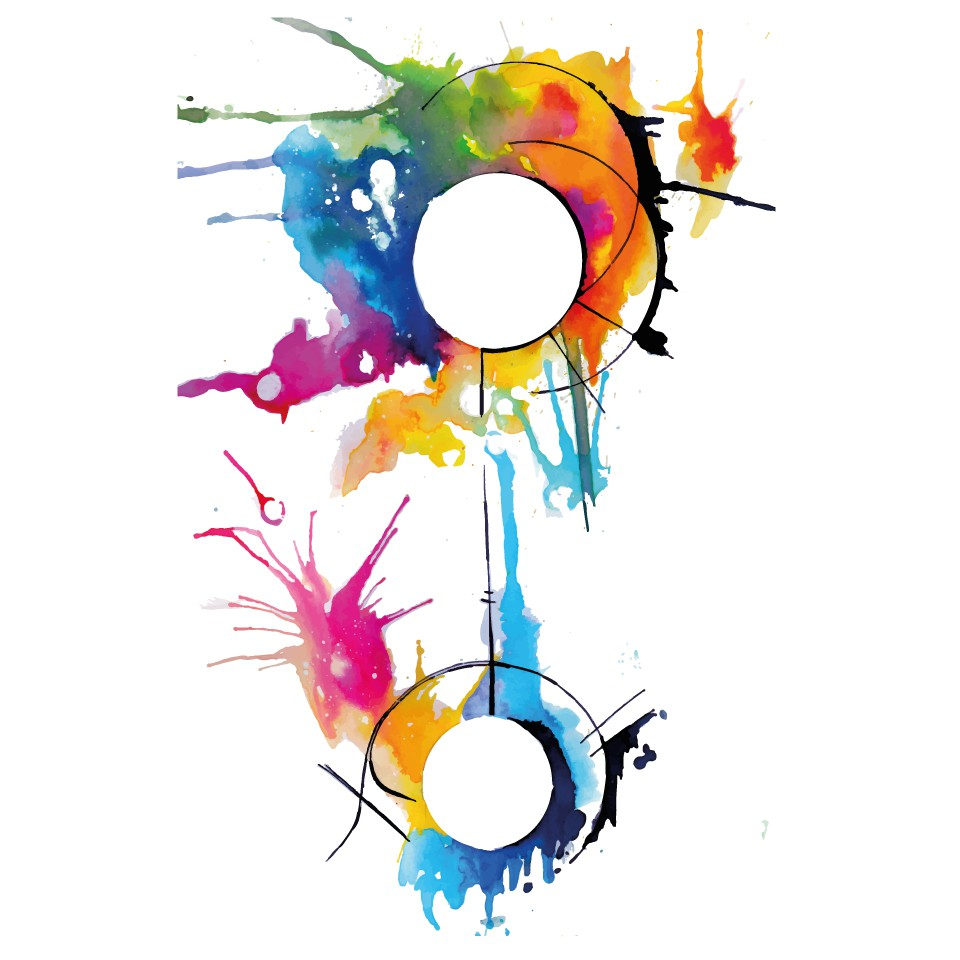 Design a Colorful and Abstract Watercolor Half-Sleeve Tattoo
