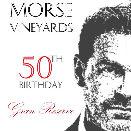 Design a fun, personalized wine label for a friend's 50th birthday event
