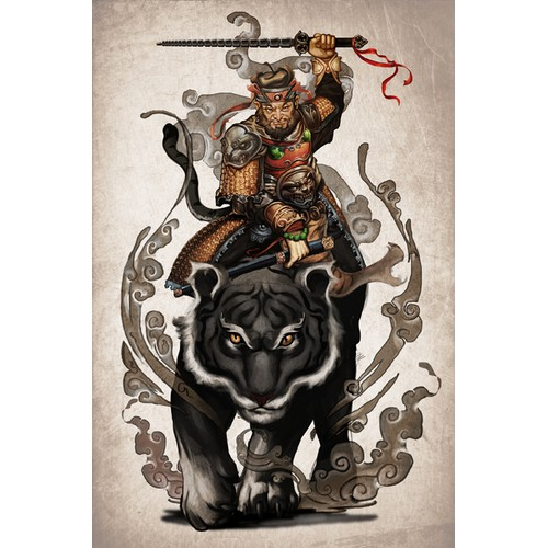 "Poster design: ""Black Tiger Zhang"""