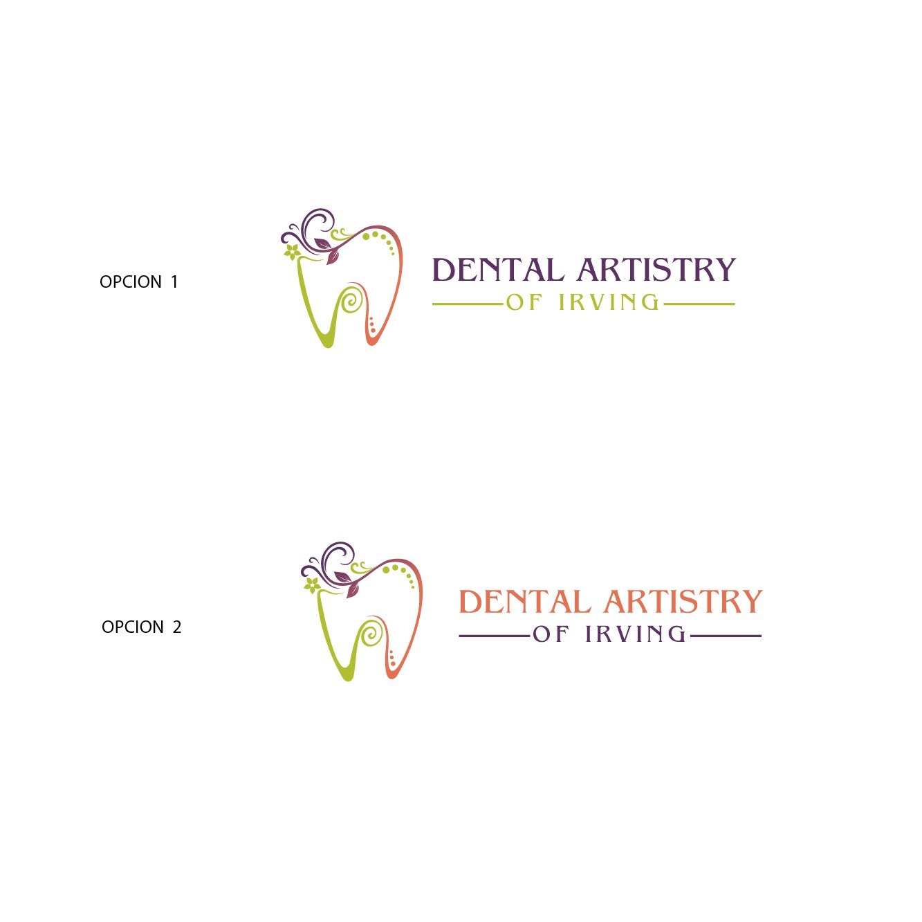 Create a warm and inviting logo for an artsy Dental Office