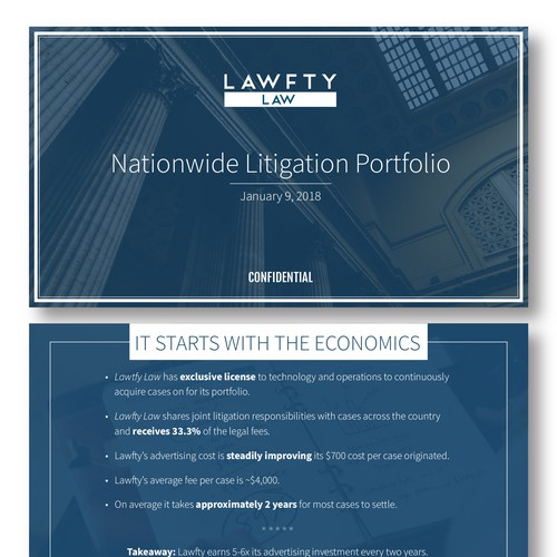 Clean PPT template for law firm