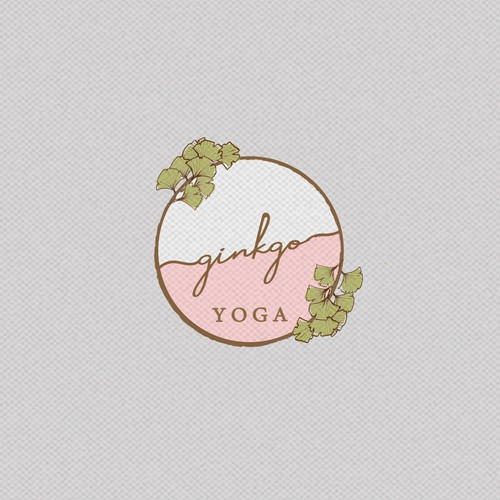 Soft logo concept for Ginkgo Yoga