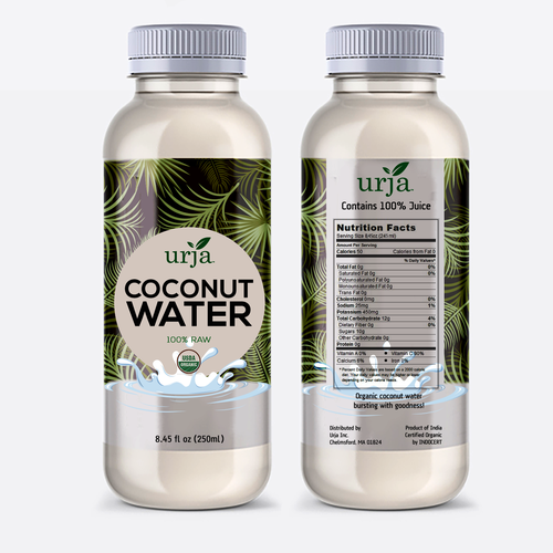 Label design for an All natural beverage