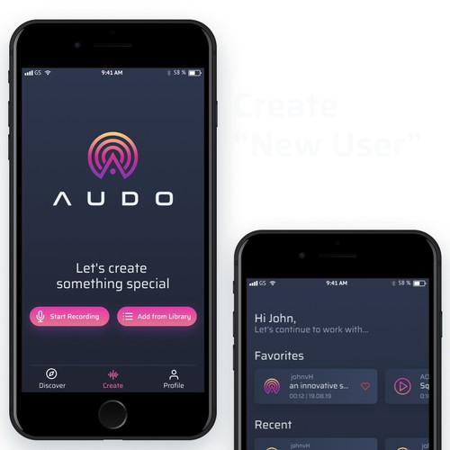 Social audio app