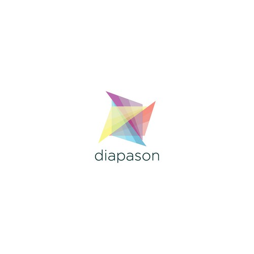 Modern, abstract logo for Diapason