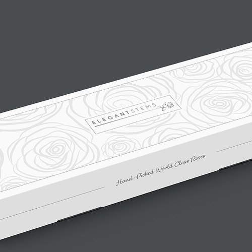 Packaging design for a rose carton
