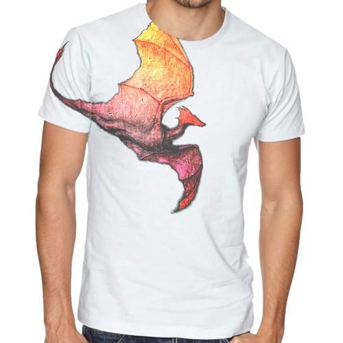 Subtle scratch dragon tshirt